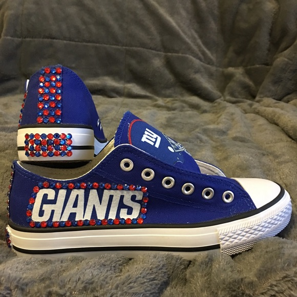9fa54dfb82cb19 NFL NY GIANTS BLING CONVERSE-LIKE WOMENS SHOES!!!